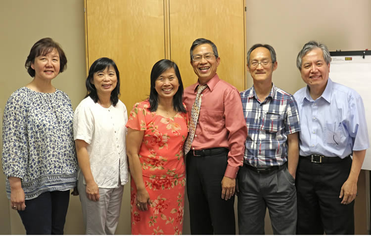 Yu-ling, Christine, Pastor Antonius with Susana, Dennies and Jonathan